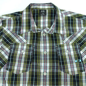 Oakley Mens Large Short Sleeve Plaid Shirt